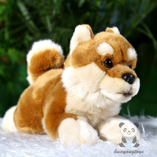 Plush Animals Toys Simulation Akita Dog Doll Safety Children'S Toy Gifts Lying Position Tachibana(China)