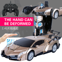 Buy 2.4Ghz 1:14 RC Car Remote Control Toys Hand Induction Robot car Deformation Robot Toys Boys for $34.43 in AliExpress store
