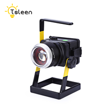 TSLEEN 30W 18650 Battery LED Flood Spotlight Waterproof Night Fishing Garage Basement Camping Fishing Emergency Warning Lamp NEW