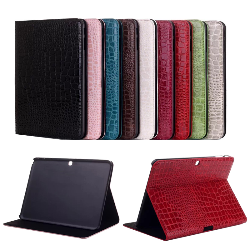 For Samsung Tab 4 T530 Cases Sparkle Crocodile Leather Flip Stand Tablet Cover for Samsung Galaxy Tab 4 T531 T533 T535 10.1inch<br><br>Aliexpress