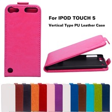 PU Leather Phone Cases For Apple iPod Touch 5 5th 5G Touch 6 6th 4.0 inch touch5 touch6 Cover  Solid Vertical Flip Shell Bags