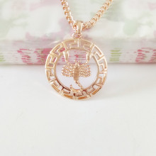 1 Piece Unisex Rose Gold Color Constellation Jewelry 585 Gold Women Men Jewelry 8 Different Models Zodiac Sign Necklace Pendants