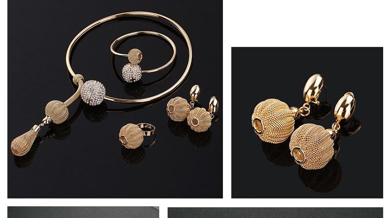 CWEEL African Beads Jewelry Set Dubai Bridal Jewelry Sets For Women Nigerian Wedding Jewelry Vintage Statement Necklace Set (4)