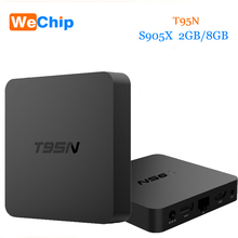 [Wechip]T95N android tv box S905X Quad Core RAM 2GB ROM 8GB Android 6.0 Wifi 2.4G smart tv box PK H96 Pro Plus V88 Media Players