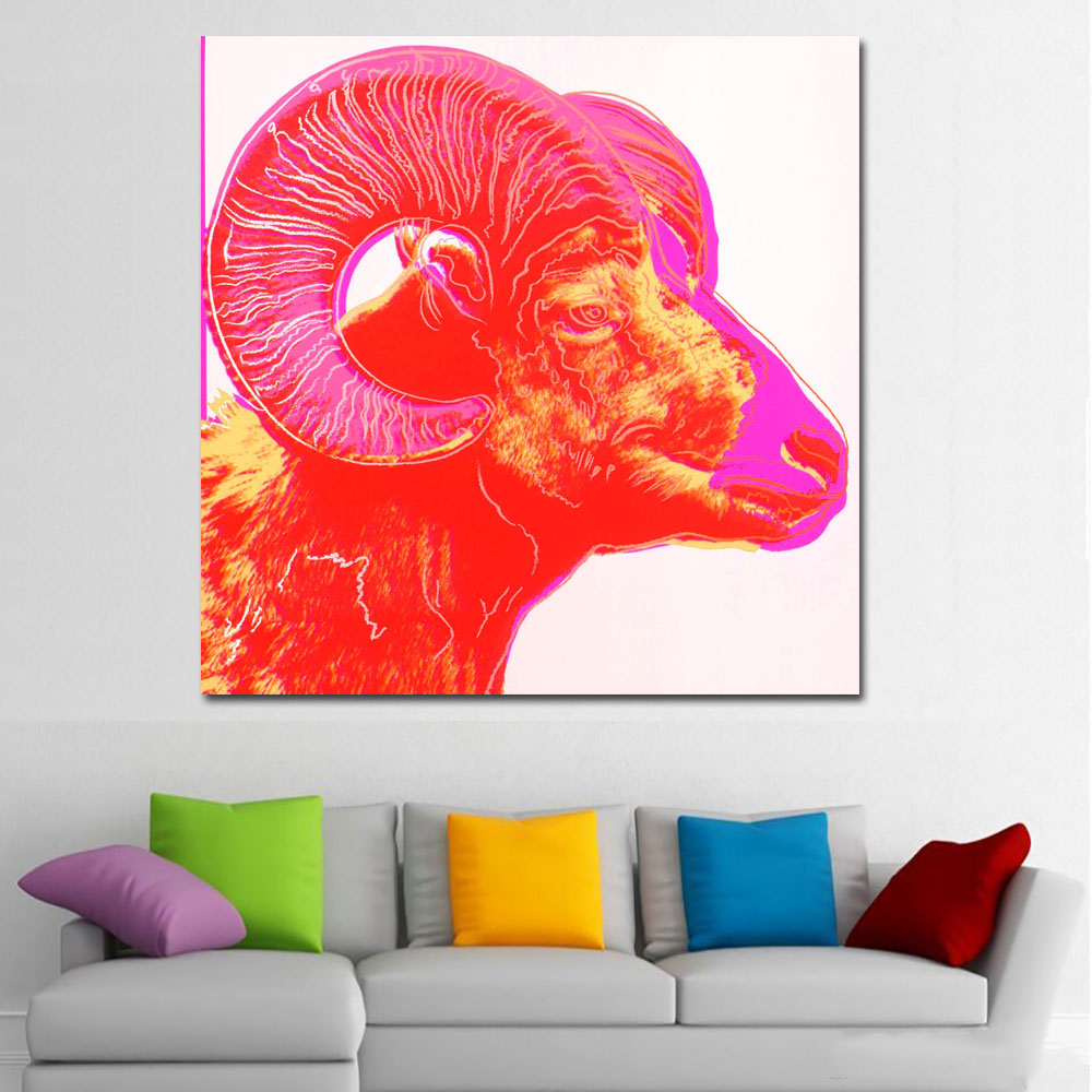 Andy Warhol's psychedelic endangered animals-70x70
