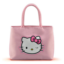 New 2016 Fashion Hello Kitty Handbag for Women Oxford Shoulder Bags Mummy  tote Shopper Hand Bag Bolsa Feminina