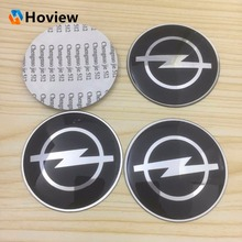 4 pcs / lot Free shipping 65mm Opel Car Emblem Center Wheel Cube Cover Emblem Resin Wheel Decal Sticker Auto Accessories(China)