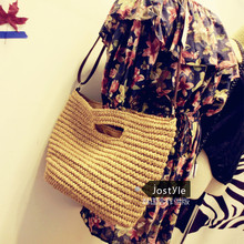 2016 new beach holiday woven straw bag casual tote soft women's hot sale shoulder and messenger bags