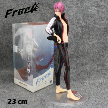 "Free Shipping Cool 9"" FREE! Iwatobi Swim Club Matsuoka Rin Boxed 23cm PVC Action Figure Collection Model Doll Toy Gift"