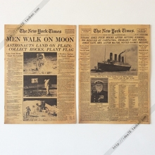 New York Times Appollo moon Titanic Retro Kraft Paper Movie Poster Decoration Painting Mural Wallpaper Picture Draws Comic Photo