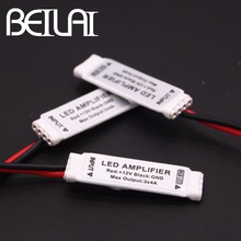 BEILAI DC 12V Mini RGB LED Amplifier 4A * 3 Channel Ultra Slim Mini Portable Repeater for SMD 5050 3528 2835 RGB LED Strip