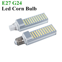 2E27 G24 LED Bulbs 5W 7W 9W 11W 13W lED Corn Bulb Lamp SMD 5050 Spotlight 180 Degree AC85-265V Horizontal Plug Light - Shop1361297 Store store