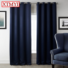 japan blackout Curtains for Living Room Cheap blue Bedroom Curtains Solid Window Curtains Fabric custom made