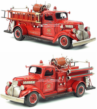 Brand New USA 1941 Chevrolet Fire-engine Vintage Handmade Metal Artefact Car Model Toy For Gift/Collection/Decoration