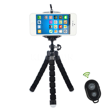 Mini Flexible Tripod and Smart Bluetooth Self-Timer Shutter Release Camera Remote Controller for iPhone For Samsung