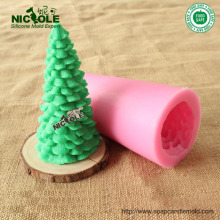 Hot Sale 3D New Christmas Tree Candle Silicone Soap Chocolate Mold Fondant Cake Baking Tool Cake Decoration Tools 9665
