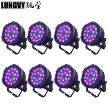 Free Shipping 8pcs/Lot Waterproof 18x18w RGBWA UV 6in1 IP65 Outdoor LED Par Light DJ Equipments Stage Light