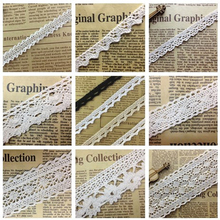 2 yards/Lot Cotton Lace Trim Clothing Decorative Ribbon Home Handmade Patchwork DIY Sewing Wedding Crafts Accessory(China)