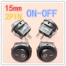 10pcs/lot 15mm SPST 2PIN On/Off G113 Round Boat Rocker Switch 3A/250V Car Dash Dashboard Truck RV ATV Home