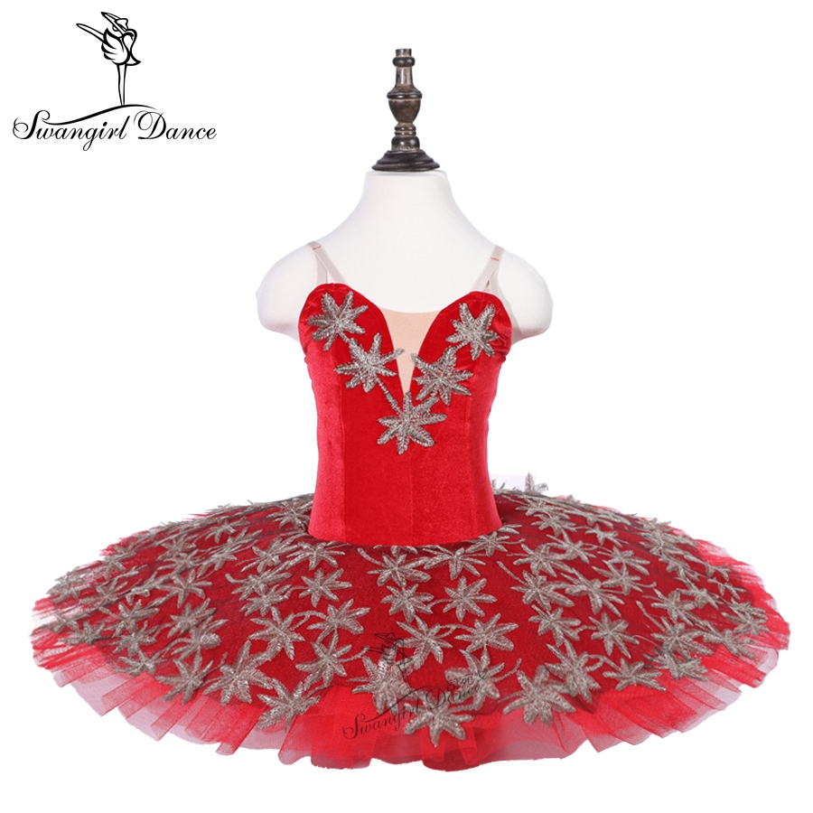 Red dance tutu costume children&junior practicing performance ballet tutu dress for women 18079B