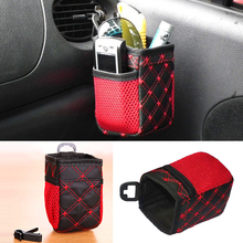 Auto Car net Storage bag Mobile Phone car Organizer hanging Bag Holder Accessory 6.5*7*12cm
