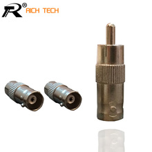 SUPER QUALITY 3PCS/LOT RCA TO BNC CONNECTOR MIXED ADAPTER GOOD FOR CCTV SYSTEM CCTV COAX ADAPTER PLUG