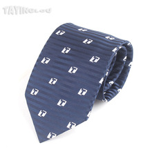 EMS OR DHL 100PCS Custom Silk Tie Men Business Letter Pattern Necktie TaYingLou Marker Logo Neckwear(China)