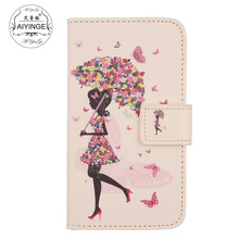 AIYINGE Flip PU Leather Cell Phone Wallet Cards Cover Pouch Protector Case For THL W200 W200S(China)