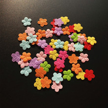 1000PCS Non-woven applique Felt flower patch Sewing Supplies diy craft Hair Ornament accessories scrapbook