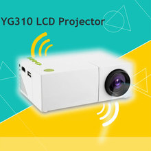New Mini YG310 LCD Pocket Portable Projector HD Resolution Multimedia LED Projection Apparatus for Home Cinema Theater PC Laptop