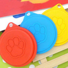 4 Pet Food Can Cover Lid Dog Cat Pet Tin Plastic Reusable Storage Cap Top 88mm(China)