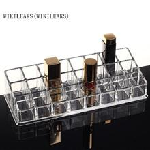 WIKILEAKS(WIKILEAKS) Crystal Cosmetic Organizer cosmetic jewelry storage display box acrylic case holder holder