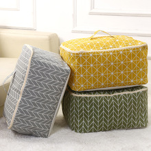 Linen Dropshipping Quilt Storage Bags Luggage Bags Home Storage Organiser Washable Wardrobe Clothes Storing Bag AY-2
