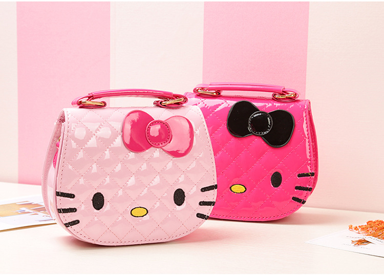 Baby Girls Cute Cat Bag Children Cartoon Bowknot Handbag Kids Tote Toys  Girls Snacks Bag Mini Bag PU Leather Plush Backpack 9a3555a4b47a