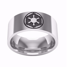 New Fashion Stainless Steel Ring Star Wars Galactic Empire Design Film Jewelry Steel Color High Quality Suitable for Men Gift