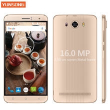 YUNSONG S10 Plus 6.0 inch QHD Mobile Phone 16.0MP MTK6580 Quad Core Dual SIM Unlocked Cell Phone telephone 3G Touch Smartphone(China)
