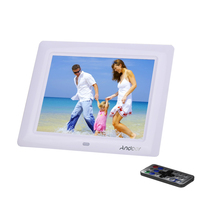 Andoer 8'' HD TFT-LCD Digital Photo Frame Electronic Picture Frame Photo Album Clock MP3 MP4 Movie Player with Remote Desktop(China)