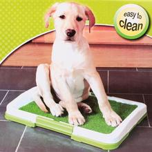 Pet Puppy Toilet Training Tray Urinary Trainer Grass Mat Potty Pad Indoor Pet Potty Toilet Puppy Pee Training Clean Pot Pink