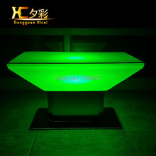 LED Luminous Bar Coffee Table Plastic Color Changing Home Decoration Furniture Living Room End Wine Drinking Table