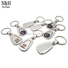 10Pcs Auto KeyRing For VW Lexus Buick Cadillac Chevrolet Mitsubishi Logo Metal KeyChain Badge Key Ring Emblem Key Holder Chain