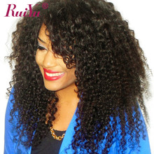 Kinky Curly Wig Lace Front Human Hair Wigs For Black Women Brazilian Non Remy Hair Lace Wigs Pre Plucked With Baby Hair RUYU(China)