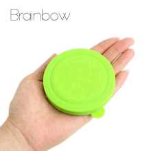 Brainbow Colorful Makeup Mirror Folding Pocket Mirror Compact Silicone Portable Round Hand Mirrors Makeup Cosmetic Beauty Tools