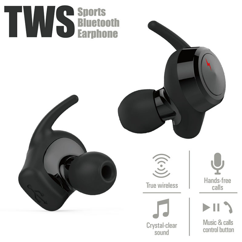 Moxpad M3 Wireless Earphones Sports Headphones Bluetooth 4.1 TWS Earbuds Stereo Music Headsets Hands Free with Retail gift Box<br>