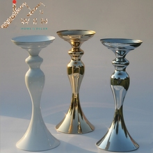 "3 colors! 32cm/12"" height metal candle holder candle stick wedding centerpiece event romantic road lead flower rack"