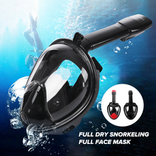 Diving Mask Full Face Underwater Snorkeling Swimming Training Scuba Mergulho Anti Fog Snorkel Diving Mask Set For Gopro Camera(China)