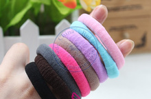candy color towel Rope Elastic Girl's lady Hair Ties Bands Headband Strap Ponytail Holder Accessary whcn+(China)