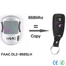 copy FAAC DL2-868SLH rolling code remote control