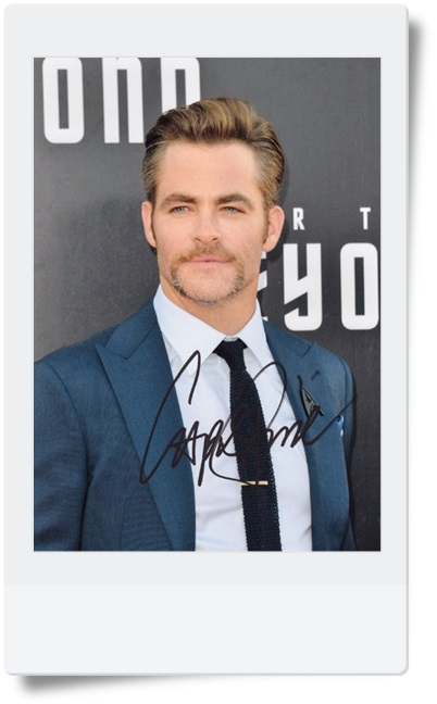 signed Chris Pine autographed photo 7 inches hot male actor  freeshipping 08201702<br>