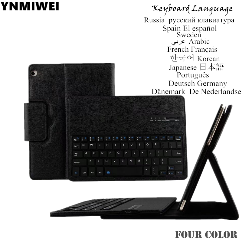 Tablet Case For Huawei Mediapad M3 Lite 10 BAH-W09 BAH-AL00 Tablet Detachable Bluetooth Keyboard Pu Leather Case Multilingual<br>