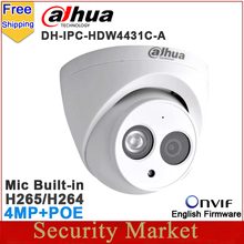 Original Dahua 4MP Camera IPC-HDW4431C-A replace IPC-HDW4421C-A IPC-HDW4421C CCTV IP mic built in IR dome DH-IPC-HDW4431C-A(China)
